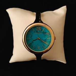 CHICO'S Turquoise Gold Tone Women's Watch